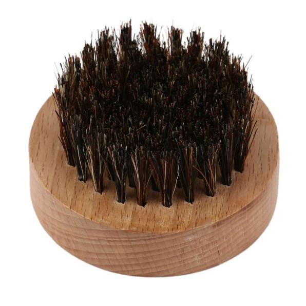 Kulatý dřevěný kartáč na vousy, kančí štětiny