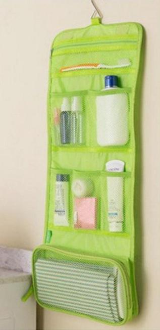 Kosmetická taška Miranda zelená s háčkem