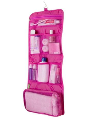 Kosmetická taška Miranda růžová s háčkem