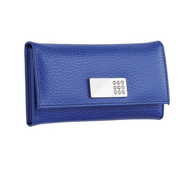 Kožená manikúrní sada - manikúra Solingen Ambassador 8764 Collorado modrá