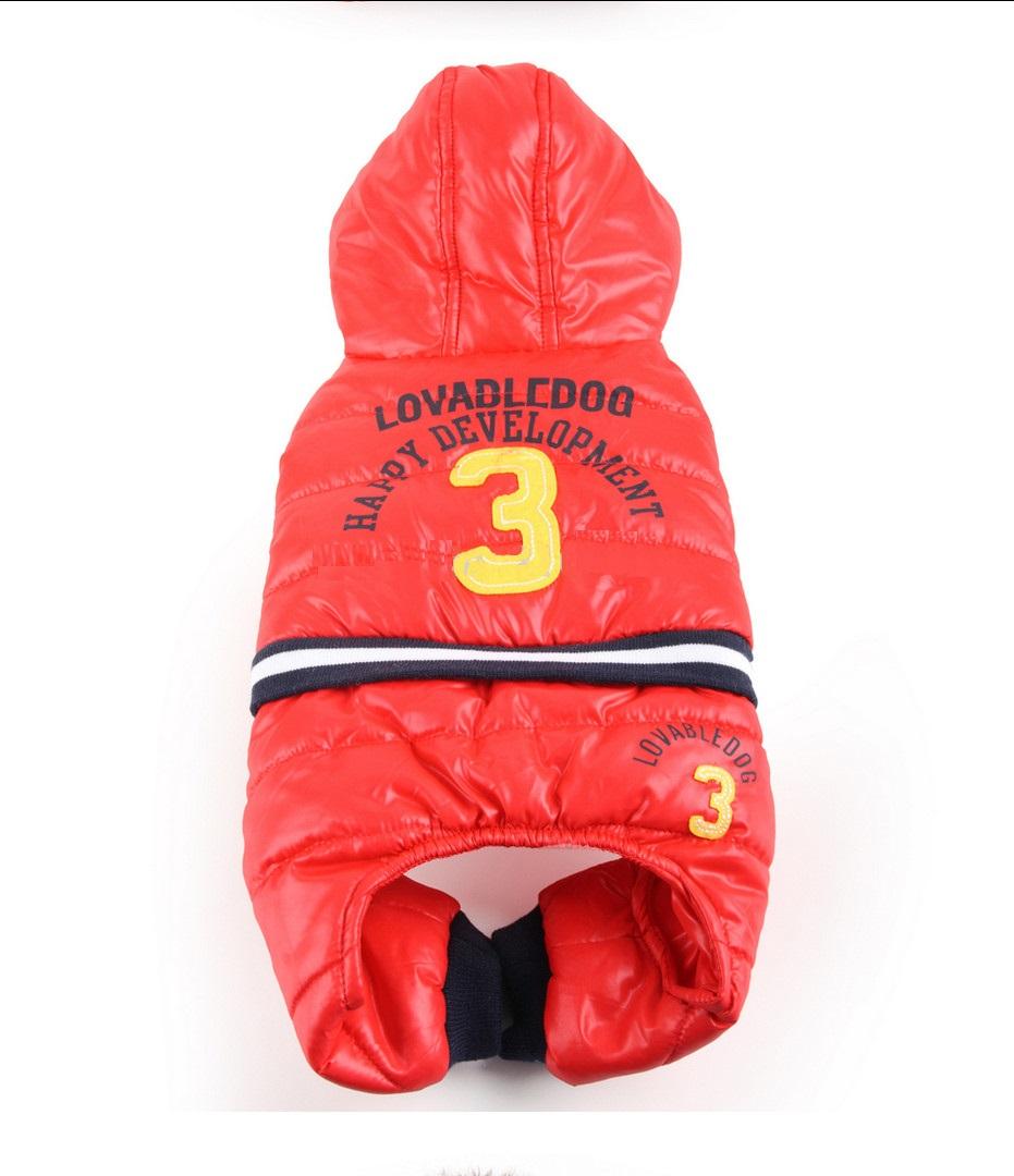 Obleček pro psa Sport Baseball červený, Velikost prádla S