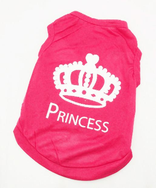 Tílko Princess pro psa růžové