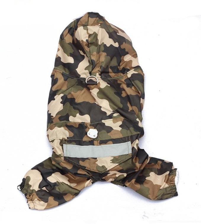 Obleček pro psa nepromokavý maskáčový, Velikost prádla M