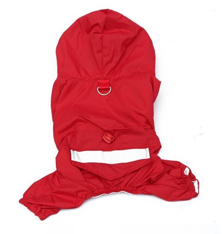 Obleček pro psa nepromokavý červený, Velikost prádla M