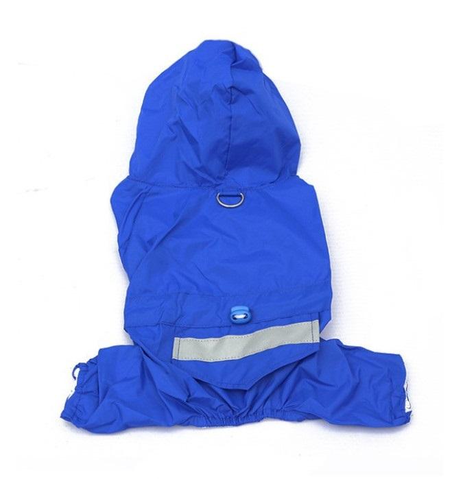 Obleček pro psa nepromokavý modrý, Velikost prádla M