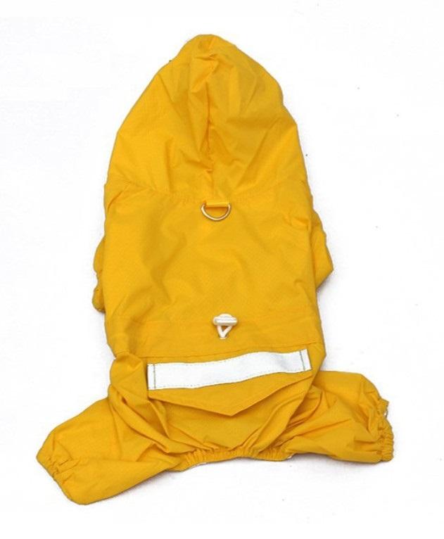 Obleček pro psa nepromokavý žlutý, Velikost prádla M