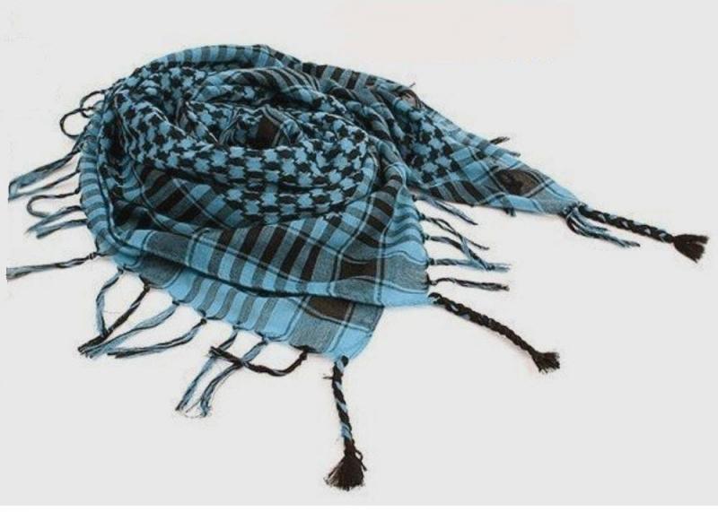 Šátek Arafat modro-černý