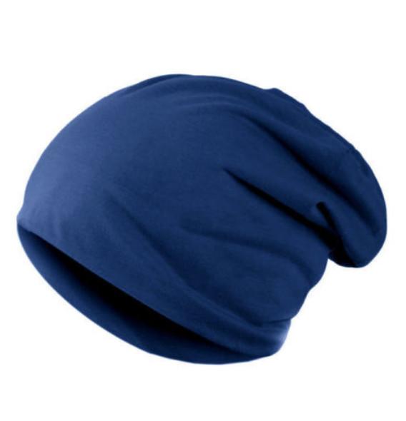 Zimní čepice hladká modrá