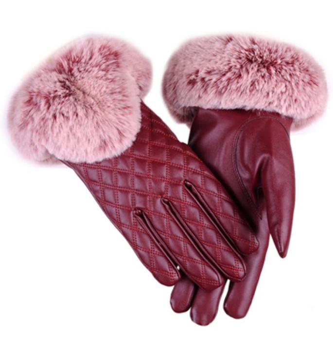 Rukavice s kožíškem Miranda Red