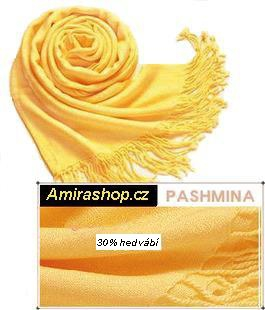 Šála Pashmina žlutá