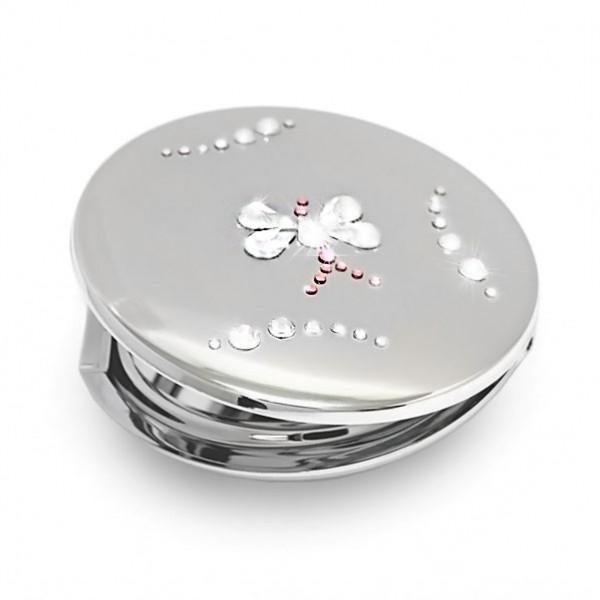 Zrcátko s kameny Swarovski Butterfly - CRYSTAL 712201