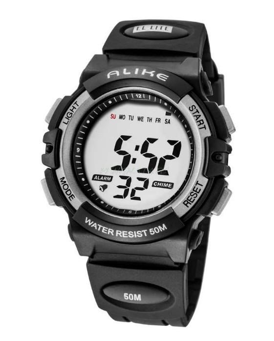 Digitální hodinky Alike černo-šedé