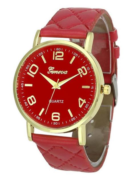 Hodinky Geneva 8713 Red