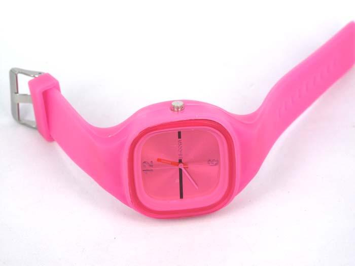 Silikon Watch Square růžové