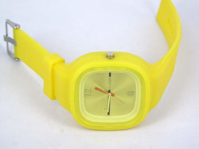 Silikon Watch Square žluté