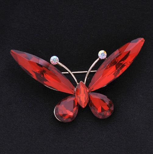 Brož Motýlek červený