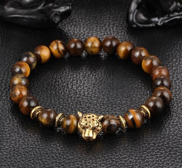 Náramek Leopard Gold s kameny Tygří oko