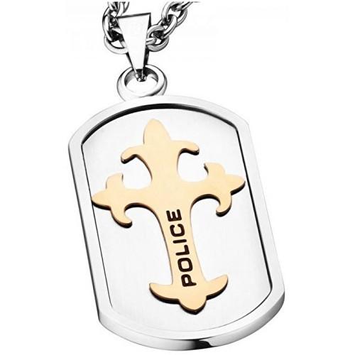 Police pánský náhrdelník s křížkem Gatekeeper PJ25570PSRG/02
