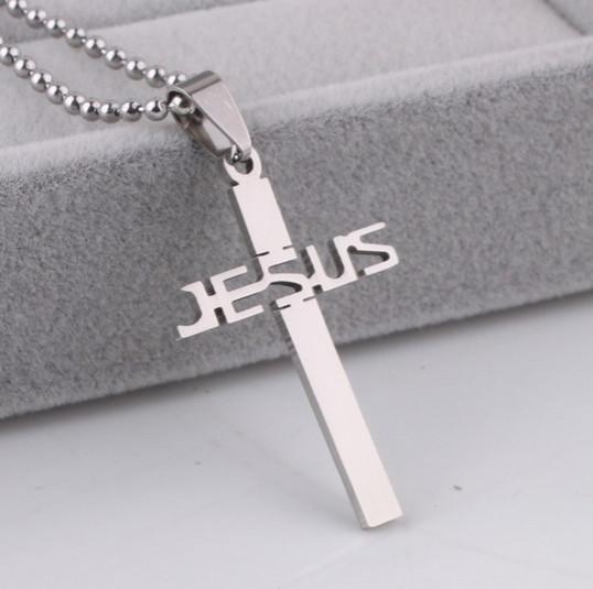 Nerezový křížek Jesus