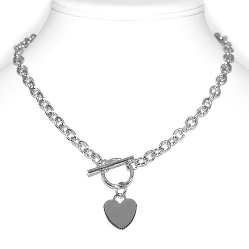 Náhrdelník Srdce - chirurgická ocel