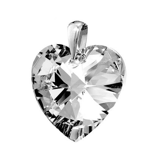 Stříbrný přívěsek Srdce se Swarovski Elements LSW169P