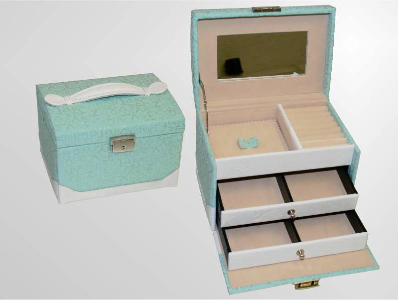 Šperkovnice Gold Pack KL44 modrá