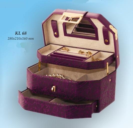Šperkovnice Gold Pack KL68 fialová