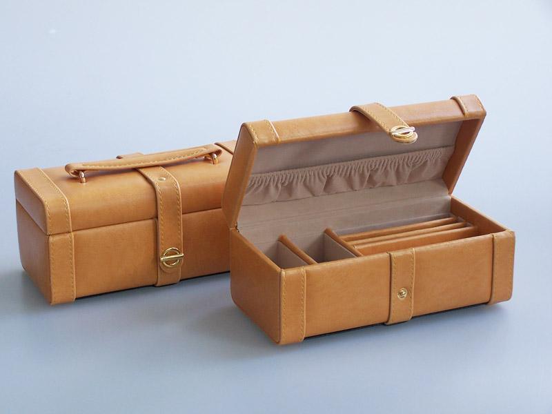 Šperkovnice Gold Pack KL07 světle hnědá