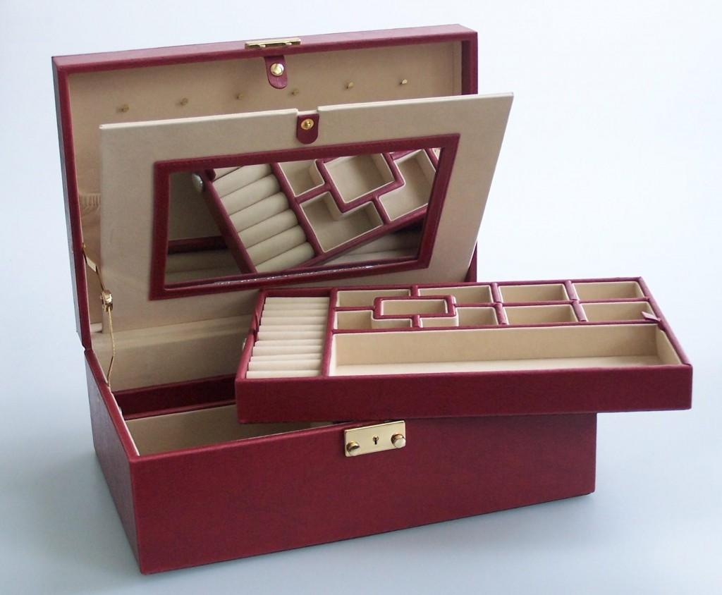 Šperkovnice Gold Pack KL20 tmavě červená