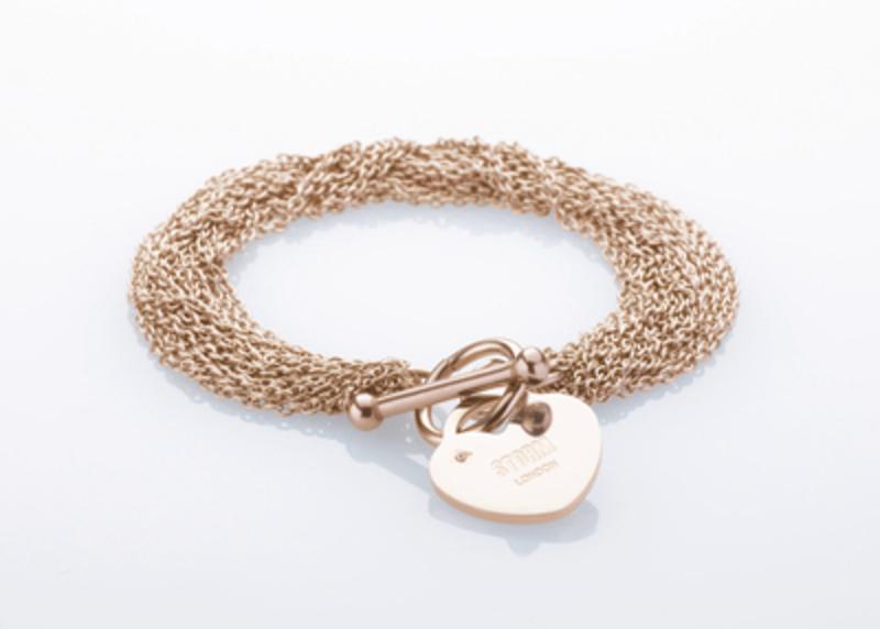 Ocelový náramek Storm Lorello Bracelet Rose Gold