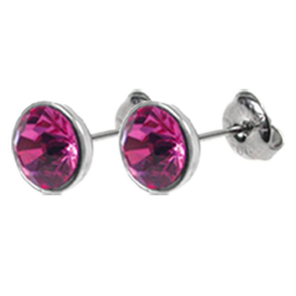 Náušnice s krystaly Swarovski TRIBAL ESSW12-ROSE