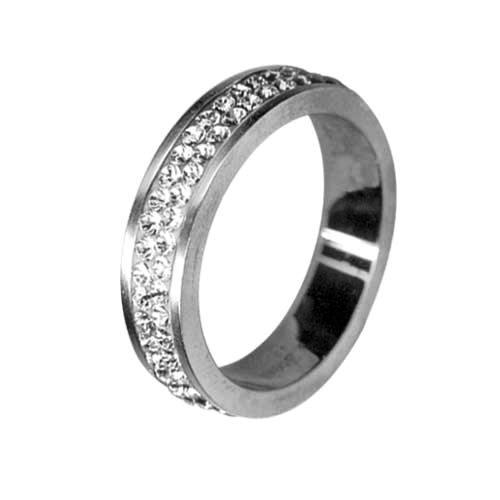Prsten RSSW02 cz s krystaly Swarovski Elements, Velikost prstenu 48