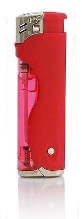 Zapalovač s LED světlem červený