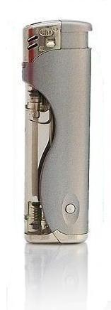 Zapalovač s LED světlem stříbrný