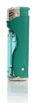 Zapalovač s LED světlem zelený