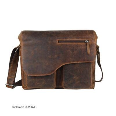 18848defe1 Kožená klopnová taška hnědá GreenLand Montana 118-25