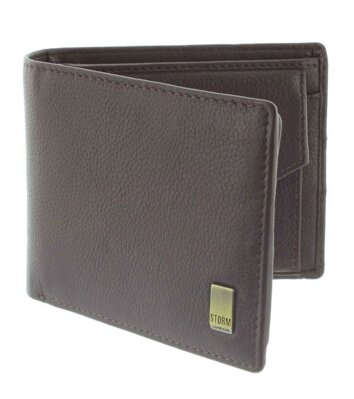 Peněženka Storm Beckett Leather Wallet Brown