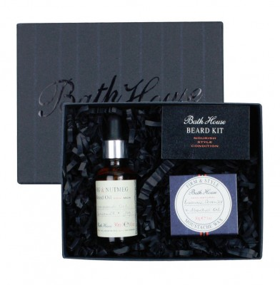 Bathhouse Sada pro vousáče Beard Fig and Nutmeg 30ml + 30g