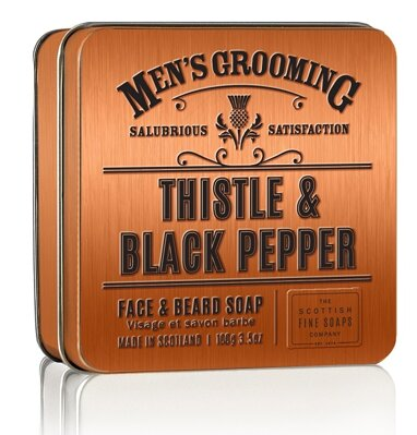 Scottish Fine Soaps Thistle and Black Pepper mýdlo na vousy 100g