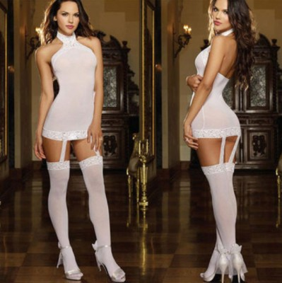 Bodystocking G string white