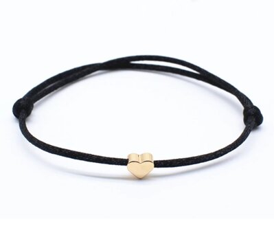 Náramek Golden Heart Black OA003