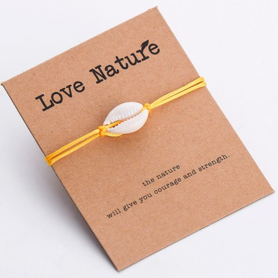 Náramek Love Nature Shell Yellow OA002